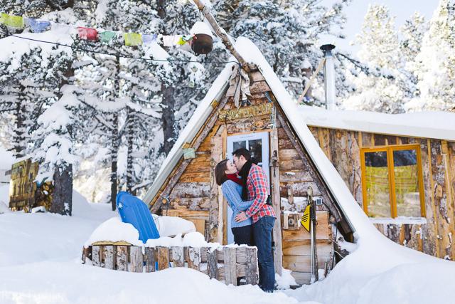 Séance engagement les pieds dans la neige