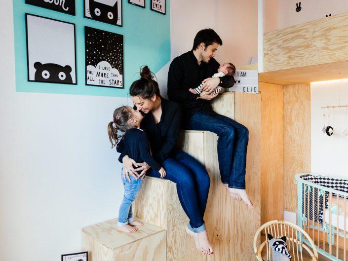 New baby at home / Priam, Amandine, Thibault & Noa