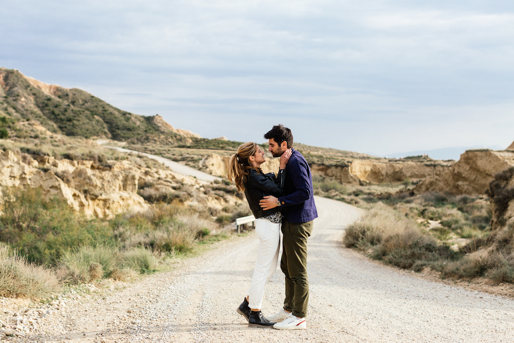 Séance engagement Emma & Olivier - Desert de Bardenas, Espagne-162