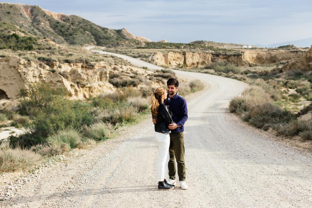 Séance engagement Emma & Olivier - Desert de Bardenas, Espagne-163