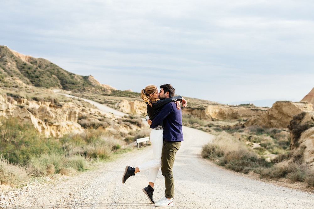 Séance engagement Emma & Olivier - Desert de Bardenas, Espagne-161